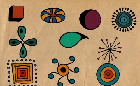 colorized doodles