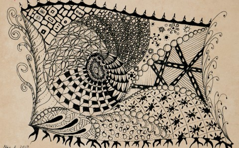 Sea Level (zentangle)