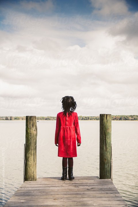 girl on dock