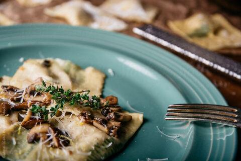mushroom ravioli
